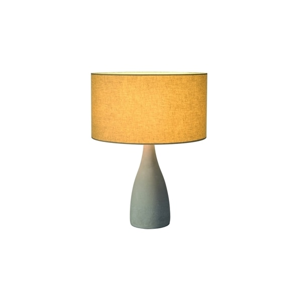 SLV Lighting Soprana Solid TL-2 1-light Concrete Grey Table Lamp