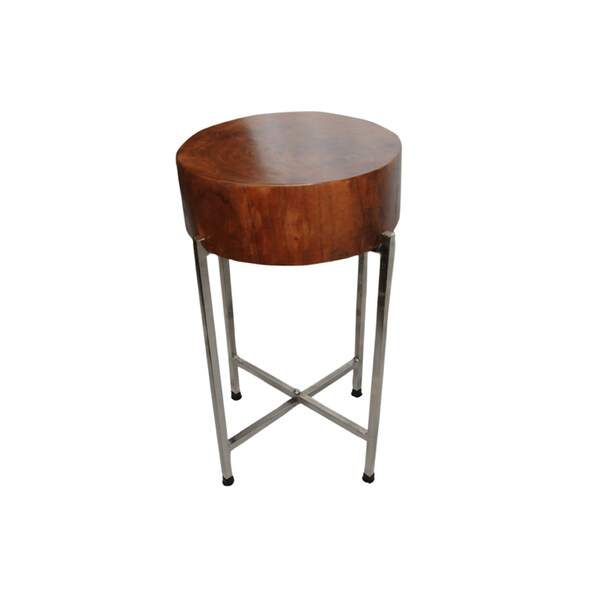 Shop Sura Slim Mango Wood Side Table On Sale Free Shipping Today