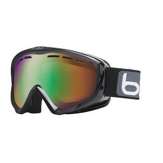Bolle Y6 OTG Ski/Snowboard Goggles - Shiny Black Frame, Green Emerald Lens