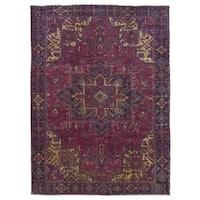 FineRugCollection Handmade Semi-Antique Persian Heriz Red Wool Oriental Rug (8'7 x 11'6)