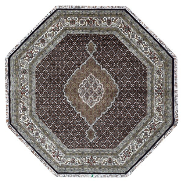 Persian Hand Knotted Nain Wool And Silk Area Rug Ebth: Shop FineRugCollection Hand Knotted Fine Mahi Tabriz Green