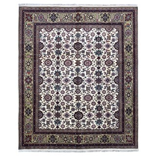 FineRugCollection Hand Knotted Mahal Beige Wool Oriental Rug (8'1 x 10')