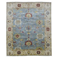 FineRugCollection Hand Knotted Fine Mahal Blue Wool Oriental Rug (8'1 x 9'9)
