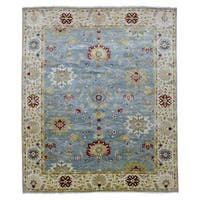 FineRugCollection Hand Knotted Fine Mahal Blue Wool Oriental Rug - 8'1 x 9'9