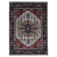 FineRugCollection Hand Knotted Serapi Red Wool Oriental Rug