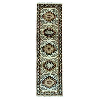 FineRugCollection Hand Knotted Tabriz Beige Wool Oriental Runner Rug (2'3 x 7'10)