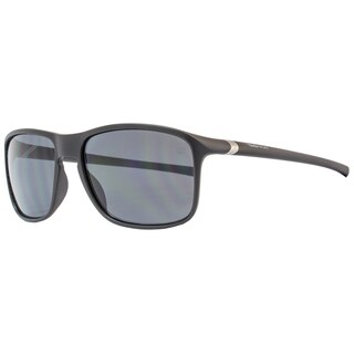 Tag Heuer 27-degree TH6042 Designer Men's Matte Black Frame Gray Lens Sunglasses