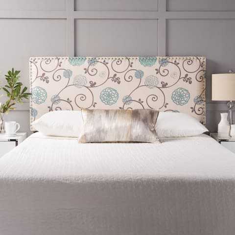 Hilton Adjustable Full/ Queen Floral Fabric Headboard by Christopher Knight Home