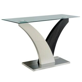 Bevelen Contemporary Dark Grey Sofa Table by FOA