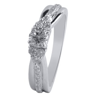 14k White Gold 4/5ct TDW Diamond Engagement Ring (H-I, I2-I3)