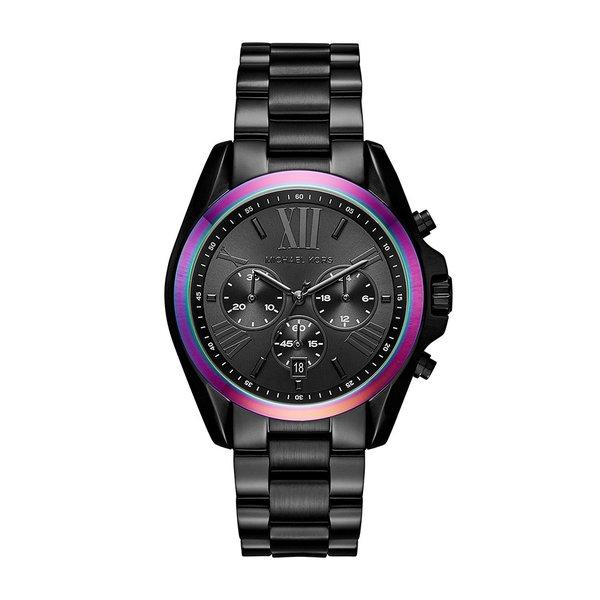 Michael Kors Women's MK6444 Bradshaw Chronograph Black Dial Black Stainless Steel Bracelet Watch