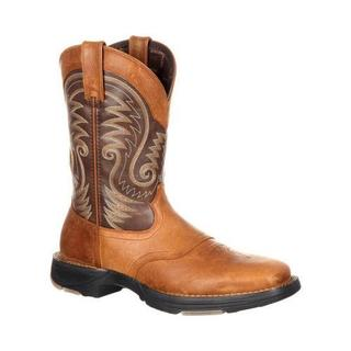 Men's Durango Boot DDB0110 UltraLite 11in Western Saddle Boot Saddle Brown/Chocolate Full Grain Leather