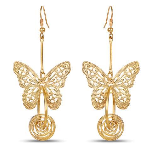 Liliana Bella Butterfly Goldplated Fashion Dangle Earrings