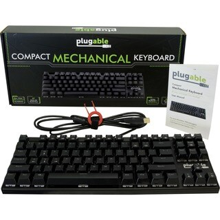 Plugable Compact 87-Key Mechanical Keyboard