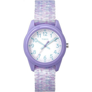 Timex Girl's Resin TW7C12200 Time Machines Purple and White Sport Watch