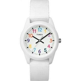 Timex Girls' Time Machines Analog Resin White Elastic Fabric Strap Watch (Option: White)|https://ak1.ostkcdn.com/images/products/14456369/P21018795.jpg?impolicy=medium