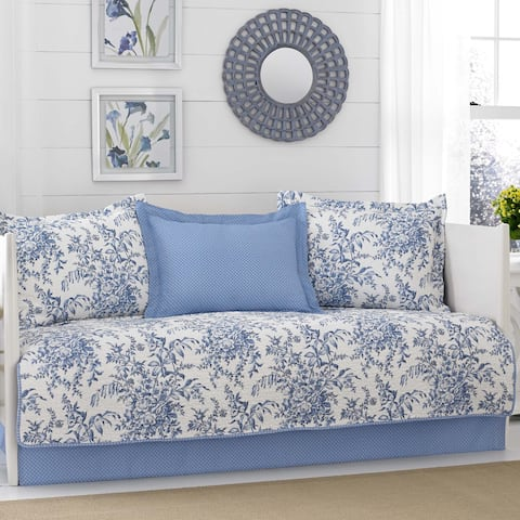 Laura Ashley Bedford Delft 5-piece Daybed Cover Set