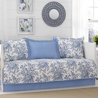 Laura Ashley Bedford Delft 5-piece Daybed Cover Set|https://ak1.ostkcdn.com/images/products/14456444/P21018859.jpg?impolicy=medium