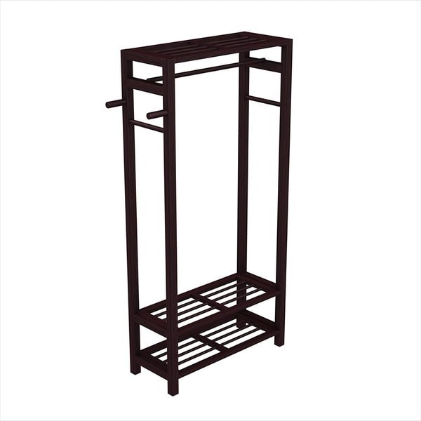 shop coat shoe rack hat stand for hallway or door entryway wood espresso free shipping today. Black Bedroom Furniture Sets. Home Design Ideas