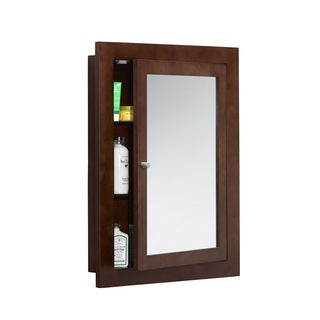 Ronbow Frederick 24-inch x 32-inch Solid Wood Framed Bathroom Medicine Cabinet