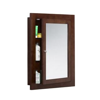 Ronbow Frederick 24-inch x 32-inch Solid Wood Framed Bathroom Medicine Cabinet