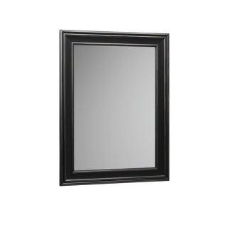 Ronbow William 24 x 32-inch Solid Wood Frame Bathroom Mirror - Black