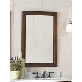 Ronbow Reuben Solid Wood Frame Bathroom Mirror - Walnut