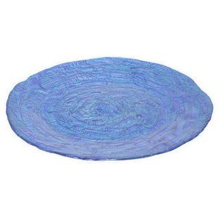 Benzara Ocean Blue Glass 12.5-inch Bowl