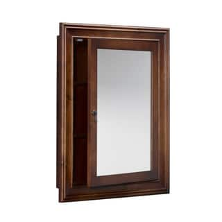 Ronbow Henry 27-inch x 34-inch Solid Wood Framed Bathroom Medicine Cabinet|https://ak1.ostkcdn.com/images/products/14456571/P21018924.jpg?impolicy=medium