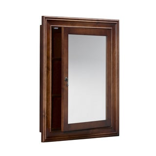 Ronbow Henry 27-inch x 34-inch Solid Wood Framed Bathroom Medicine Cabinet
