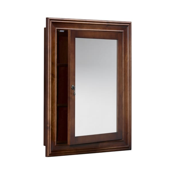 Ronbow Henry 27 Inch X 34 Solid Wood Framed Bathroom Medicine Cabinet