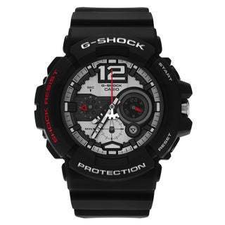 Casio Men's GAC-110-1ADR 'G-Shock' Matte Black Chronograph Dial Resin Strap Watch