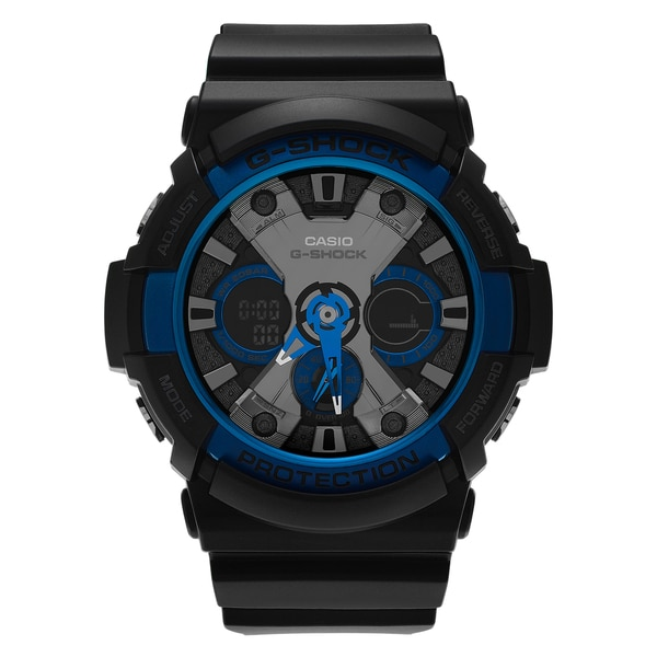 4fdb603e1 Shop Casio Men's GA-200CB-1A 'G-Shock' Black Resin Analog Digital ...