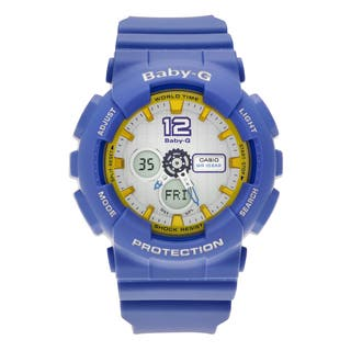 Casio Women's BA-120-2B 'Baby-G' Blue Resin Analog Digital Dial Strap Watch|https://ak1.ostkcdn.com/images/products/14456583/P21018934.jpg?impolicy=medium