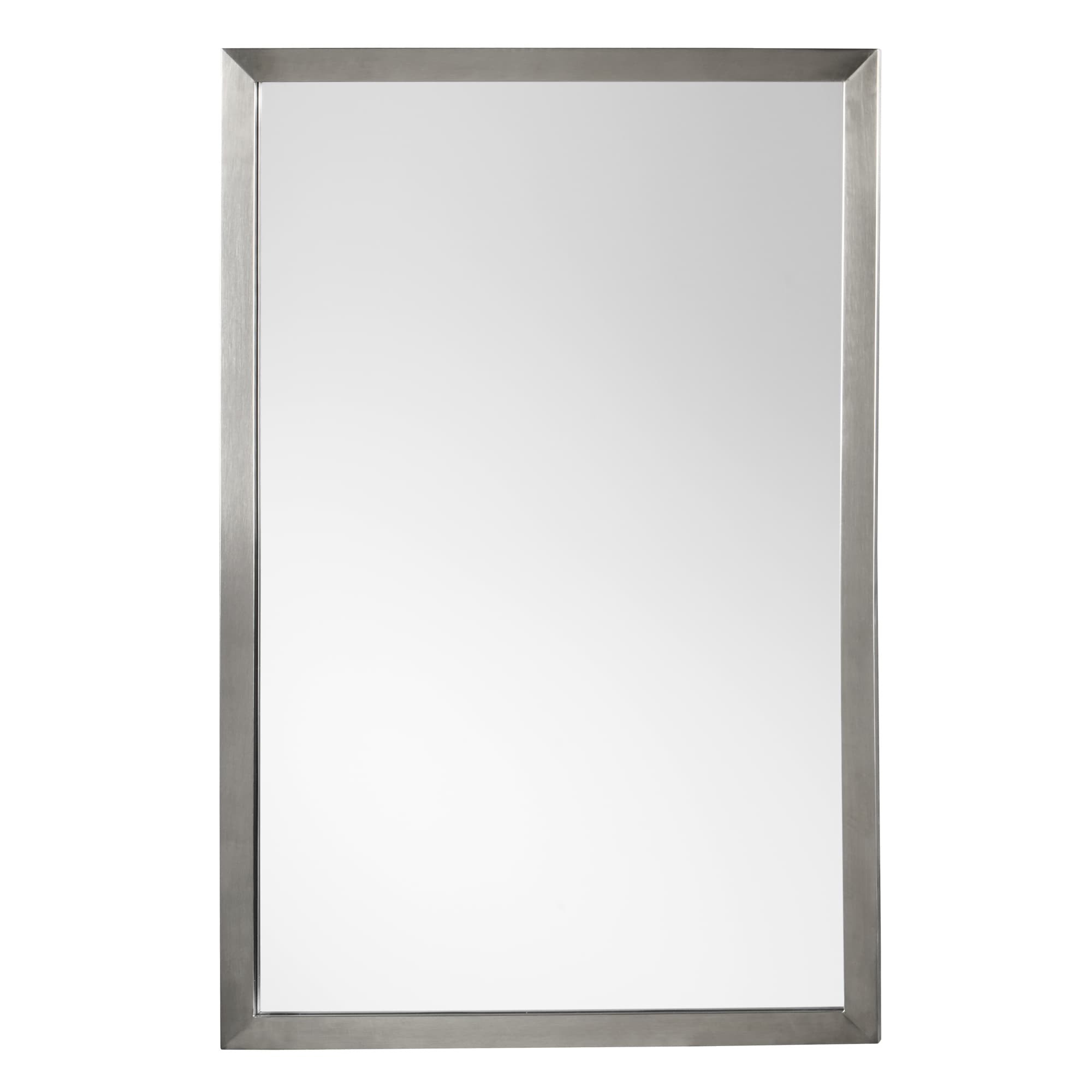 Shop Ronbow Emile Metal Frame Bathroom Vanity Mirror Overstock 14456586 Silver Chrome