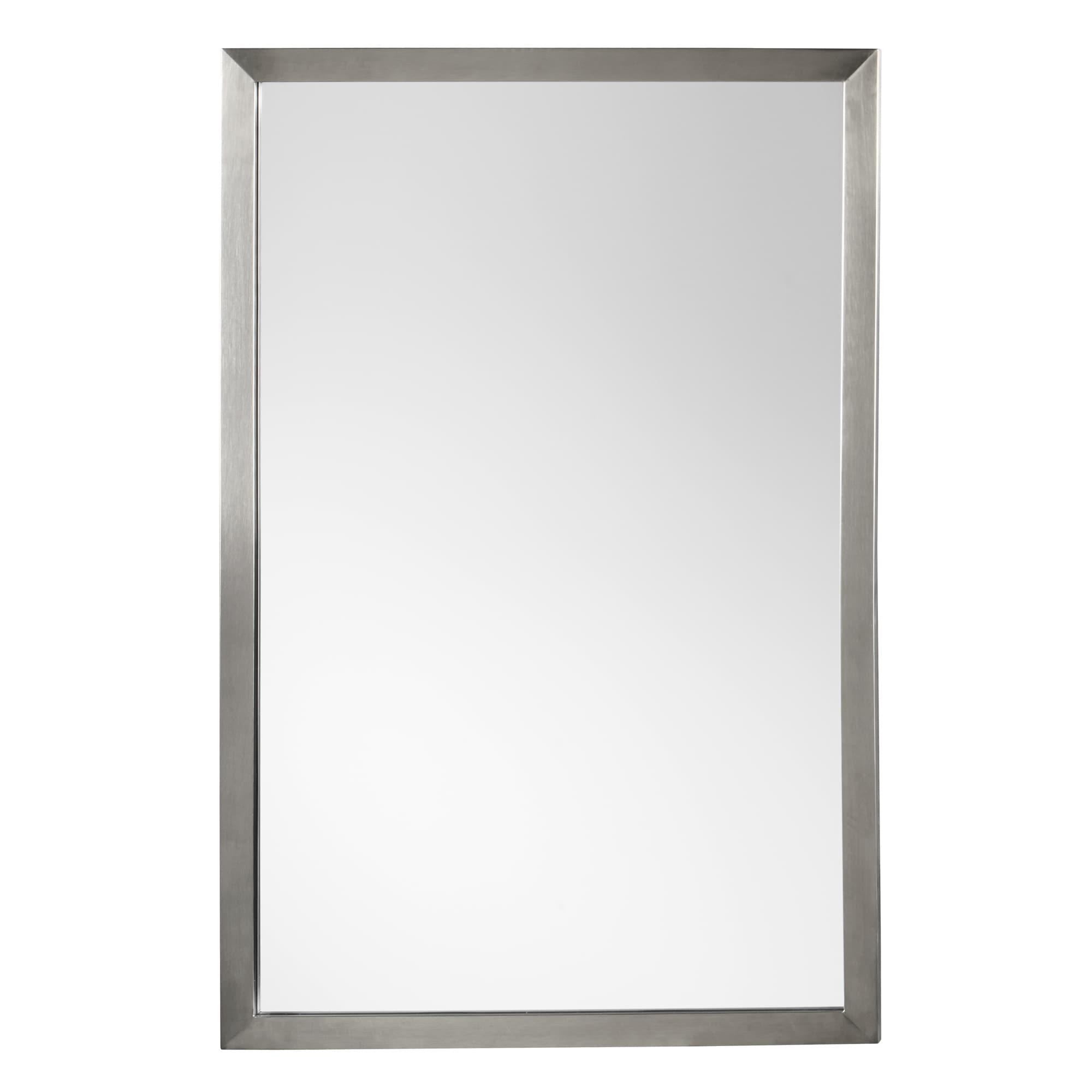 Shop Ronbow Emile Metal Frame Bathroom Vanity Mirror Overstock 14456586 Silver Chrome