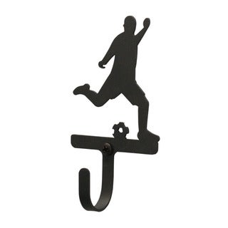 Village Wrought Iron Small Soccer Player Wall Hook