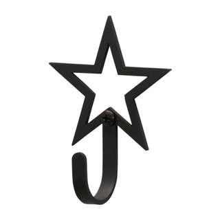 Village Wrought Iron Small Open Star Wall Hook