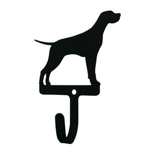 Village Black Wrought Iron Small Pointer Wall Hook
