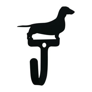 Village Dachsund Black Wrought Iron Small Wall Hook