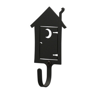Village Wrought Iron Out Small House Wall Hook