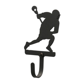 Village Wrought Iron Small Lacrosse Player Wall Hook
