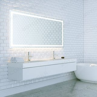 Dyconn Swan Wall Mounted Vanity Bathroom LED Backlit Mirror - Clear