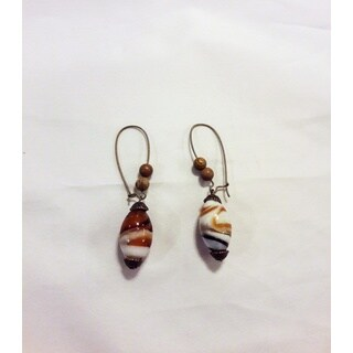 Glass and Gem Dangle Earrings