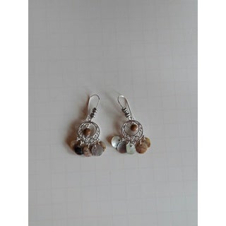 Handmade Mother of Pearl Chandelier Earrings (USA)