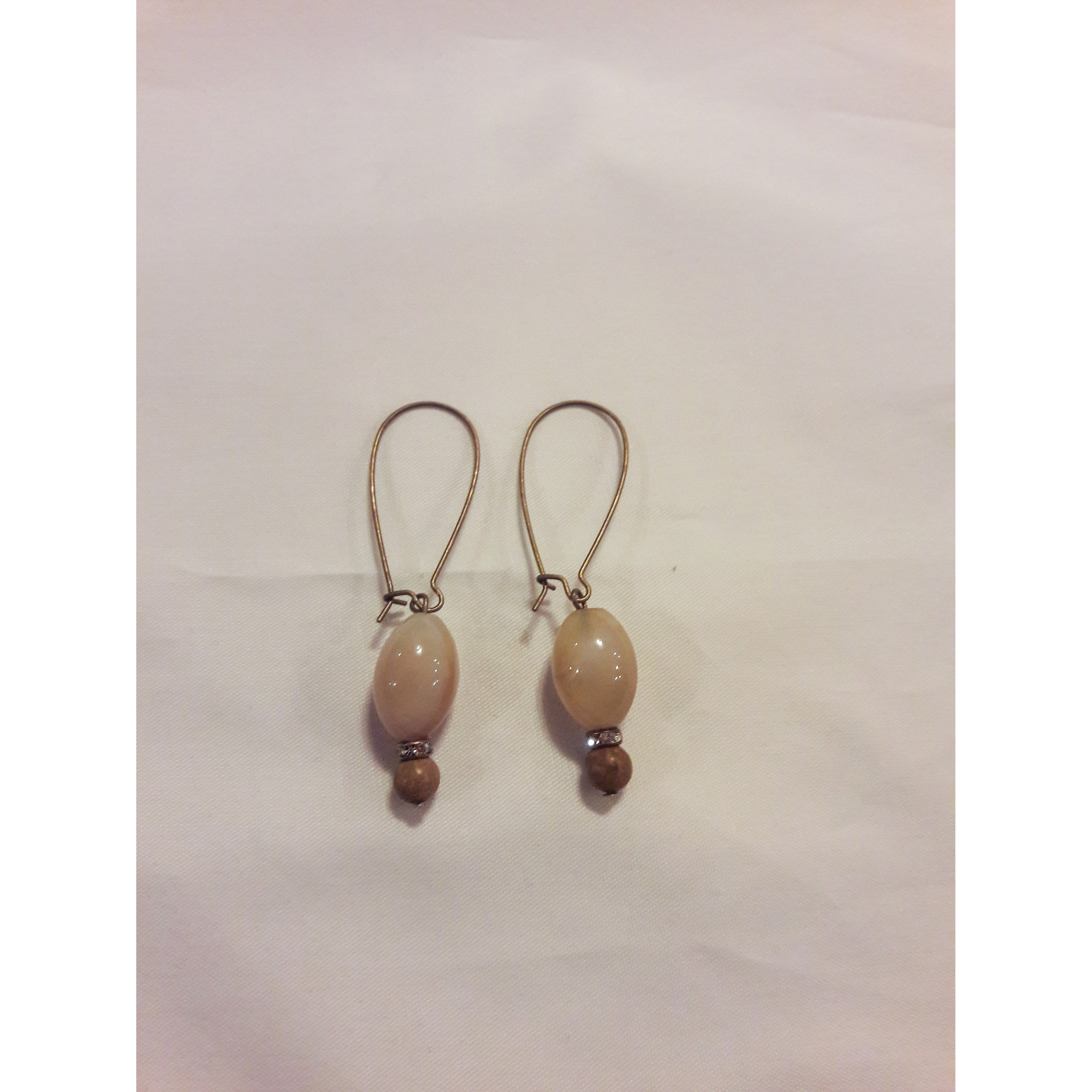 Antique Bronze Plated Dangle Earrings
