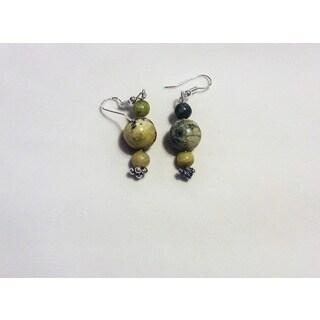 Turquoise Bead Dangle Earrings