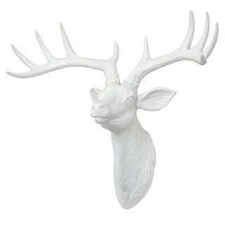 Three Hands White Resin Deer Wall Decor