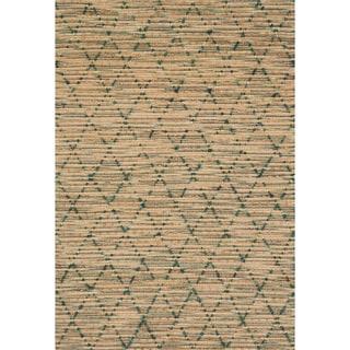 Hand-woven Ember Trellis Rug (5'0 x 7'6)