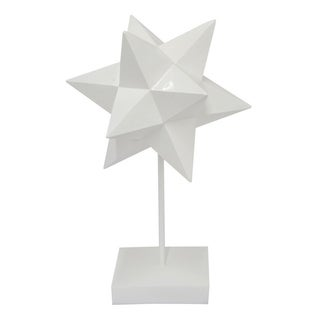 Three Hands White Resin Star Tabletop Decor